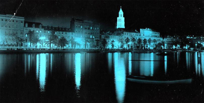 Retro panorama: Split by night, 1960. godine